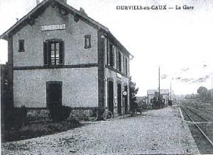 la gare d'Ourville