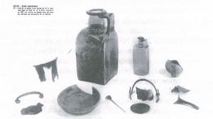 objets trouvés dans les tombes gallo-romaines