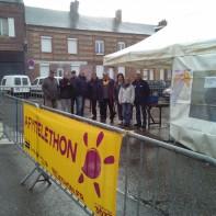 Vente de harengs grillés au profit du Téléthon à Ourville-en-Caux